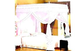 Four Poster Canopy Bed Frames Full Size Of 4 Princess Frame Queen ...