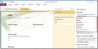 Onenote Templates 2013 Microsoft Onenote 2010 Office 39 S Best Kept Productivity