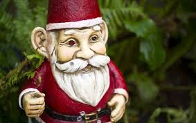 garden gnomes that e lpete with security camera and motion sensors