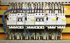 Circuit Breaker Cabinet Control Panel With Circuit Breakers Fuse Stock Photo Picture