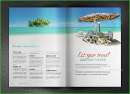 What To Include In A Travel Brochure Elegant Beach Brochure Examples
