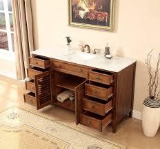 58 inch bathroom vanity. 58 Inch Bathroom Vanity Coastal Cottage Beach Style Medium Brown Color (58\ C