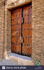 old door inside fortification zabid tihama yemen orient arabia