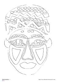 Coloriage Masque Afrique Les Beaux Dessins De Autres Imprimer