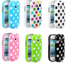 phone cases for Samsung Galaxy Young S6310 Free Shipping:2014 6 colours Stylish Polka Dots Hard Silicon Phone Case Cover