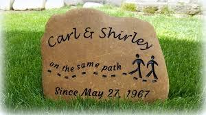 personalized garden rock stone gifts retirement achievement anniversary