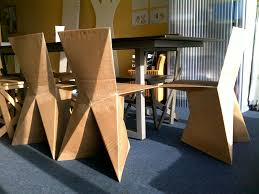 how to make cardboard furniture. Fantastic DIY Cardboard Furniture For Unique Home Decor: Awesome Dining Made Of ~ How To Make I