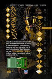 Mizzou Graphic Design Program 2017 Mizzou Football Game Programs On Behance