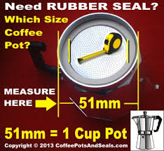 Which Size Replacement Seal For My Aluminium Espresso Moka