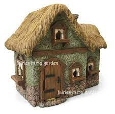 my fairy gardens fairy house thatched