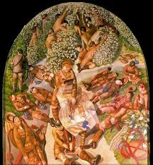 stanley spencer map reading 1927 1932 oil on canvas 215 x 185 cm national trust the estate of stanley spencer 2016 all rights reserved dacs photo