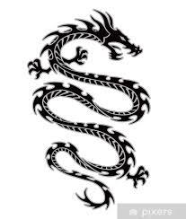 Fototapeta Vinylová Tribal Tetování Drak