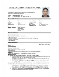 Resume Format Example 79 Images Academic Cv Example Download