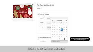 woomerce gift card screen shot 06 schedule gift card jpg