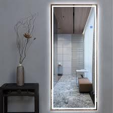 large full length led bathroom mirrors