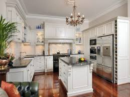 Kitchen:The Classy Display of British Kitchen Designs White British Country  Kitchen With Mini Island