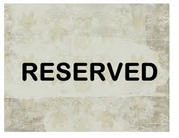 Reserved Signs Templates Reserved Sign