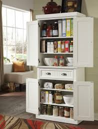 Extra Kitchen Storage Furniture White Storage Cabinet With Doors And Drawer Added In The