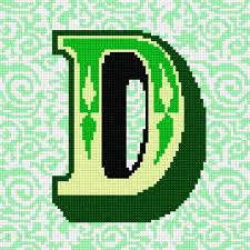 d d 5 character sheet needlepoint canvas the letter d