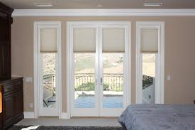 image of bamboo shades for sliding glass doors