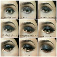 bridal tutorial of smokey 2016 eyes black smoky makeup