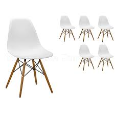 eames style chairs uk. 6 white eames inspired abs dining chairs - dsw eiffel side style uk
