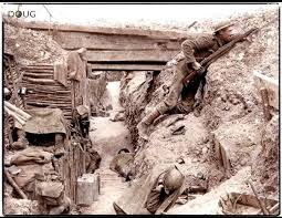 what were the differences between german and british trenches in  british iers after capturing a german trench line in the battle of the somme 1916