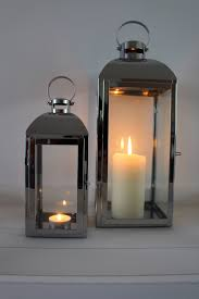 Photo 4 of 4 Attractive Candle Hurricane Lamp #4 Large Silver Hurricane  Lantern