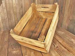 wooden fruit box vintage wooden crates inside