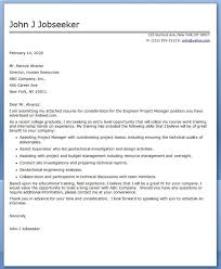 Cover Letter Engineer Project Manager Career Tips And Resumes