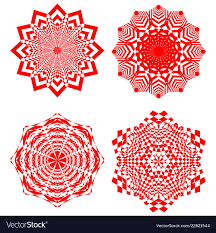Simple Geometric Designs Set Of Simple Geometric Design Elements Red