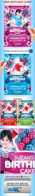 Birthday Invitation Flyer Template GraphicRiver Kids Birthday Cake Flyer Invitation Ads Pinterest 21