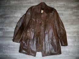 vintage berman s leather jacket car coat jacket starsky hutch pitt men s size 42