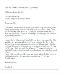 Application For Leave To Manager Office Vacation Leave Letter To Manager Sample Employer Format