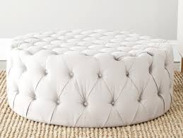 Round Table Ottoman Round Tufted Ottoman Coffee Table Garden Home Le Thippo