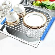 foldable dish drying rack roll up dish drying rack folding wash drainer tray folding stainless steel foldable dish drying rack