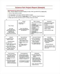 Template For Science Fair Project Example Of Science Fair Project Report Template For Skincense Co