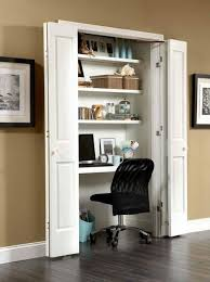 home office in a closet. Home Office Closet Idea In A O