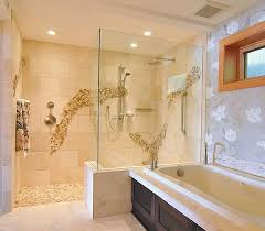 Bathroom Glass Doors Corner Block Ideas Walk In Pictures Tile Showers  Surround Roll Fiberglass Frameless Door Hardware Tub Glass Wall Doorless  Shower In ...