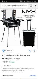 nyx portable makeup case with ligths