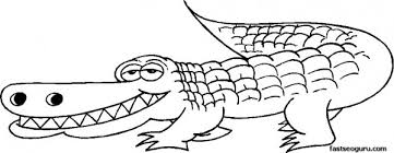 Small Picture Crocodile Animal Coloring Pages Funny Cartoon Animals For Kids