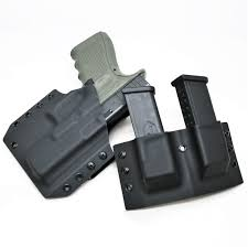 Kydex Magazine Holder OWB Kydex Holster Double Mag Holder Code 100 Defense 86
