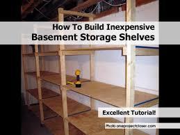 build wooden basement storage shelves plans diy small view larger