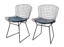 pair of harry bertoia side chairs for knoll