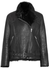 iro mantaa textured leather and shearling coat