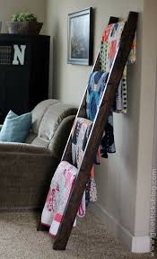 Best 25+ Quilt ladder ideas on Pinterest | Blanket holder, DIY ... & $15 DIY Quilt Ladder - we need this with all the blankets we have piled  around Adamdwight.com