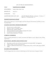 Maintenance Technician Job Description Resume Best of Apartment Maintenance Technician Job Resume Worker Description