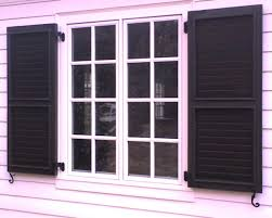 vintage wooden window shutters exterior