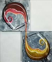 how to paint wine on swirls set