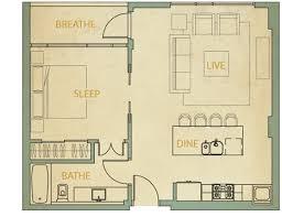 1 Bedroom Condo: 1A | 683 Sq. Ft.
